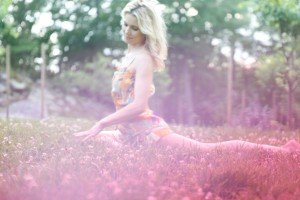 So happy for Spring Yoga shot