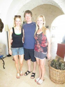 Kraig, Kara and I in our Juil Sandals