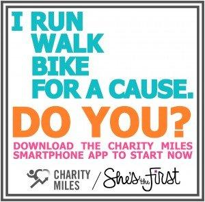 Charity miles - instagram FB