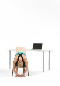 Forward Bend at Desk