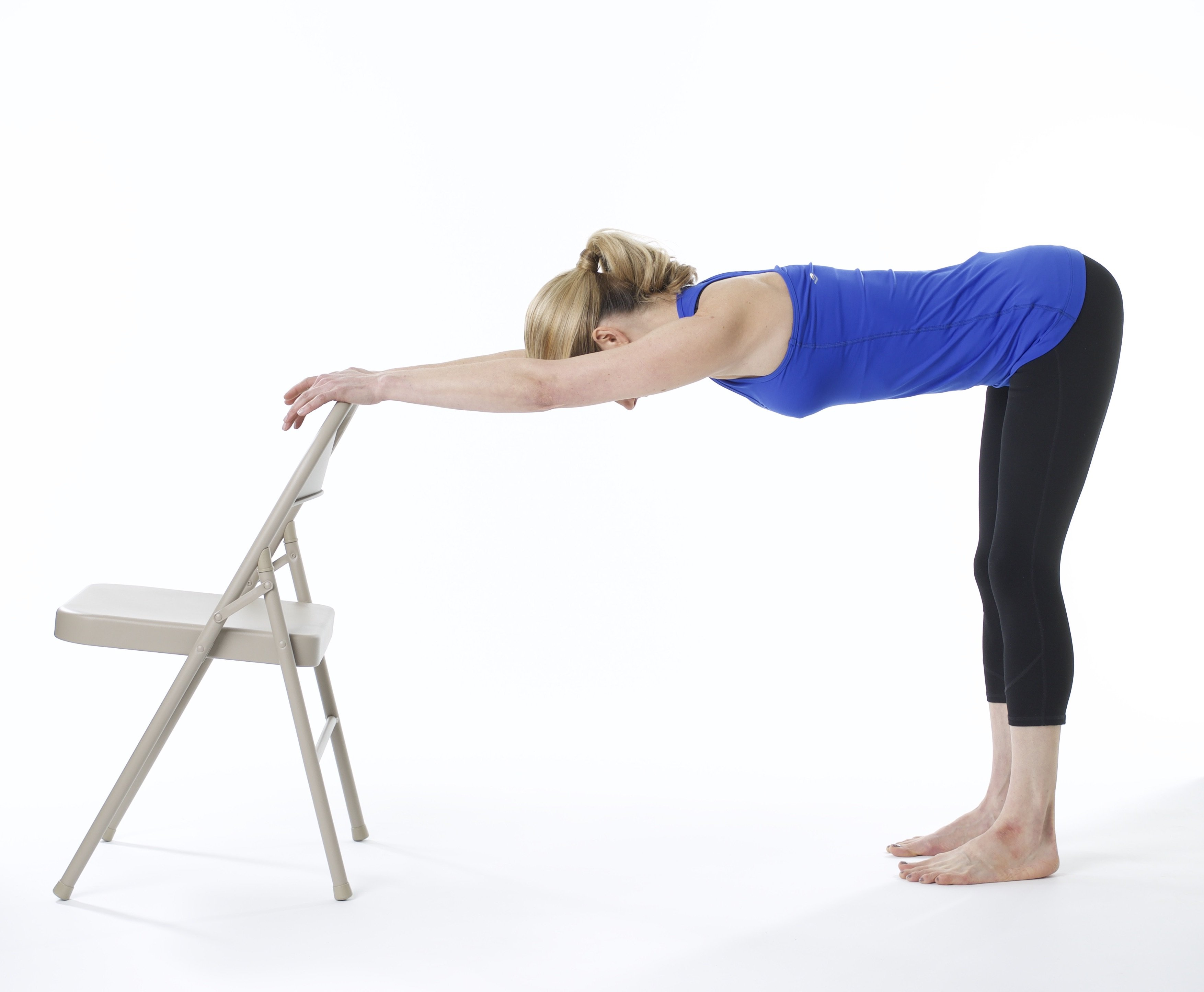 Chair yoga standing exercises more ways to do yoga with for Furniture yoga