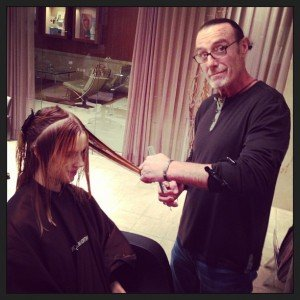Patrick Cutting my hair