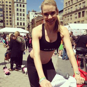 On Bike at Sports Bra Challenge