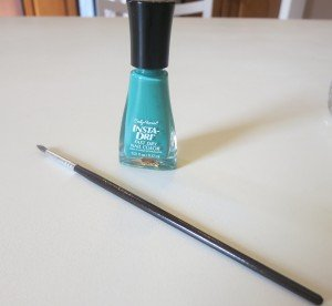 Paint Brush Mint Sprint Polish