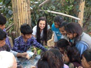 Satya with Kids