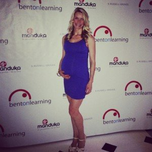 Bent on learning with baby bump