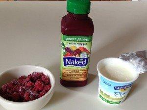 Berry Veggie Smoothie ingredients