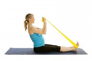 Prenatal Biceps Curl with Band