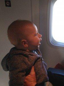 Timothy on plane