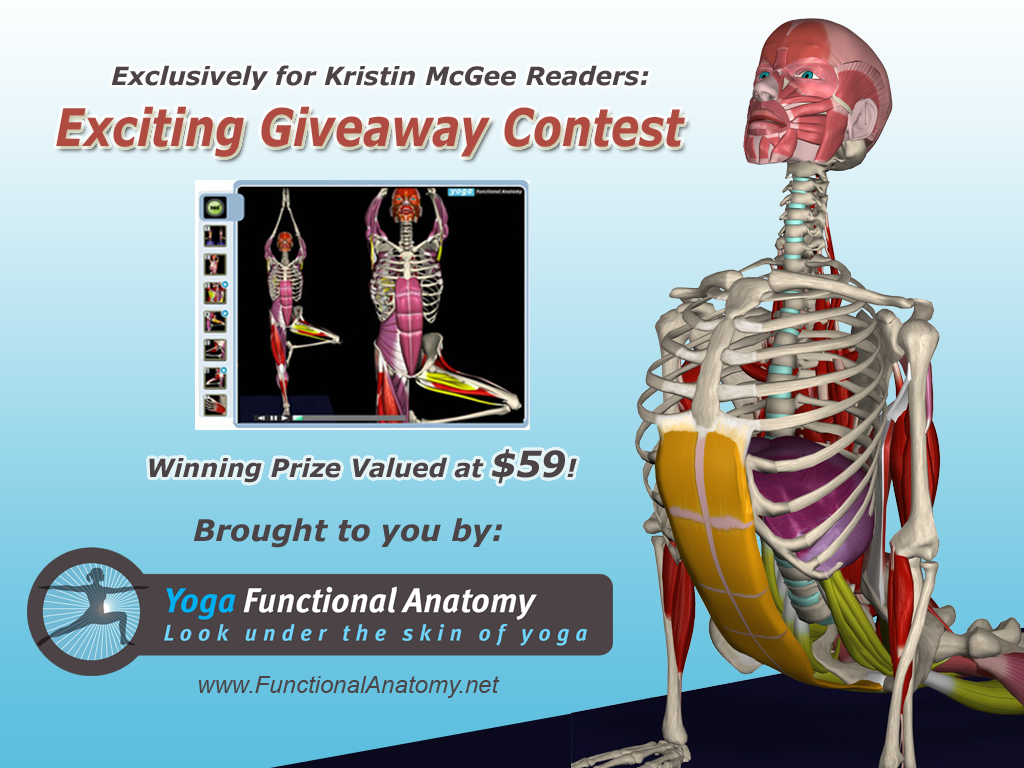 Yoga Functional Anatomy Software Giveaway Kristin Mcgee